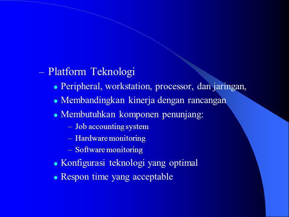 Platform Teknologi Peripheral, workstation, processor, dan jaringan,