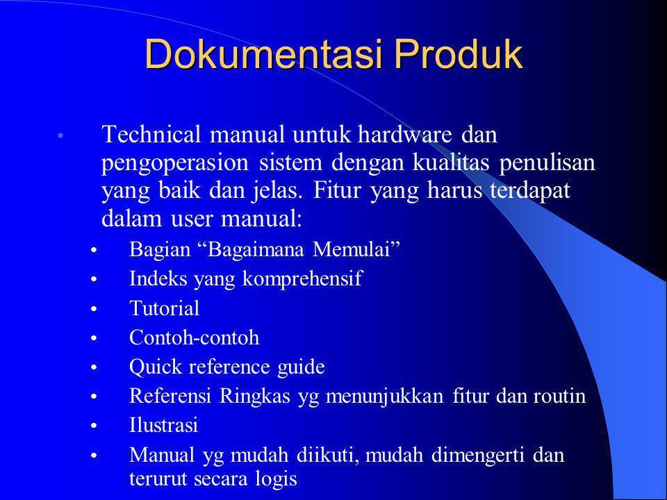 Dokumentasi Produk