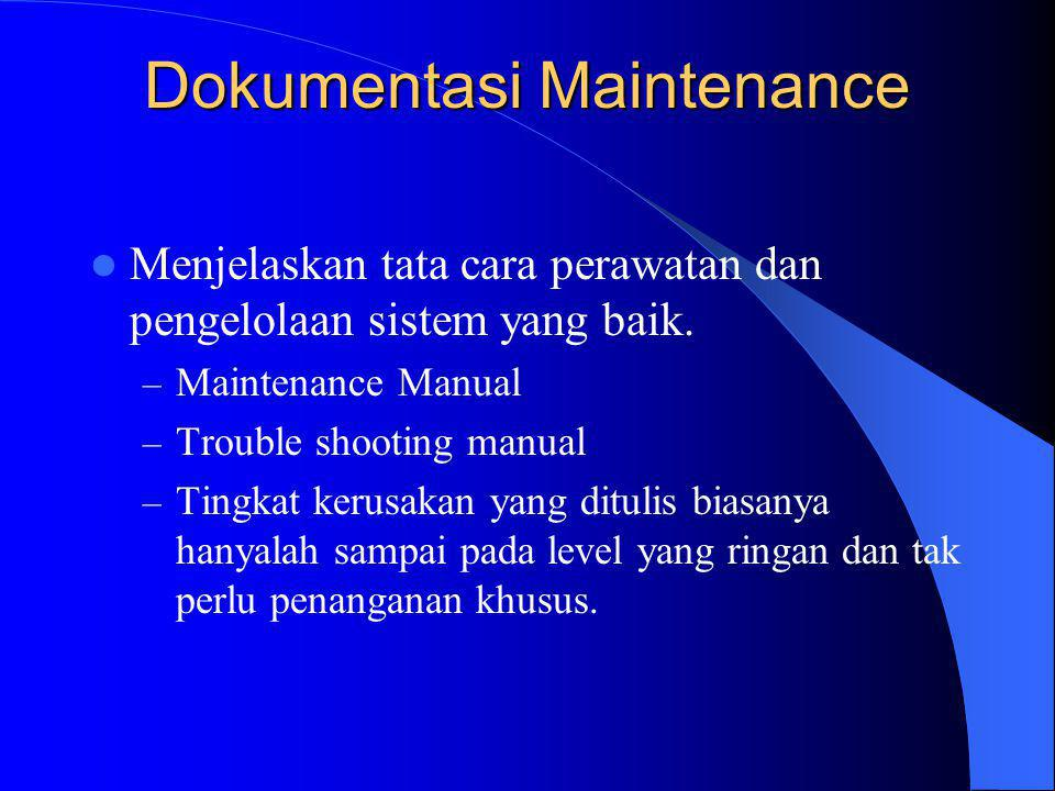 Dokumentasi Maintenance