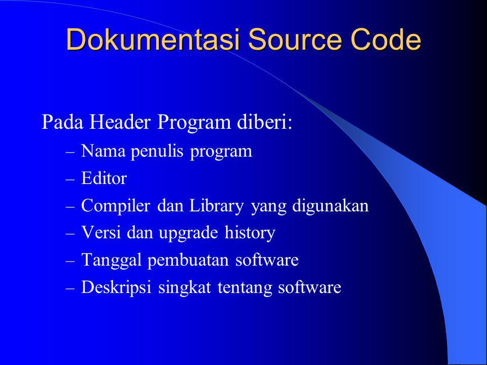 Dokumentasi Source Code