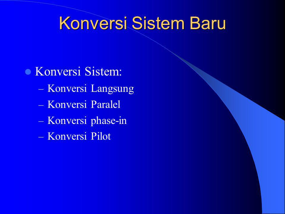 Konversi Sistem Baru Konversi Sistem: Konversi Langsung