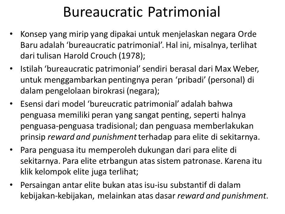 Bureaucratic Patrimonial