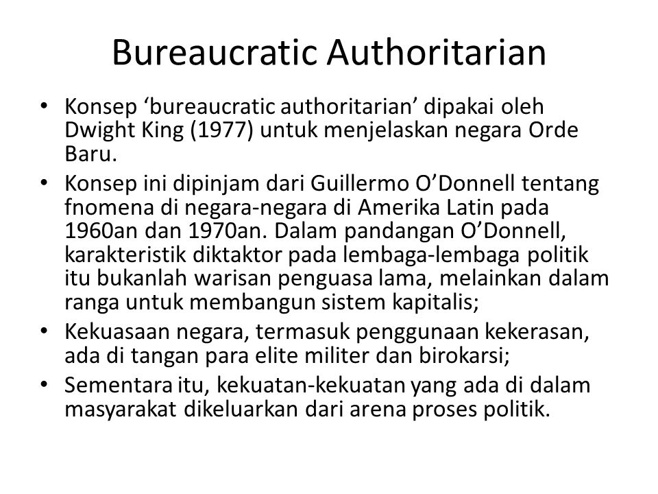 Bureaucratic Authoritarian