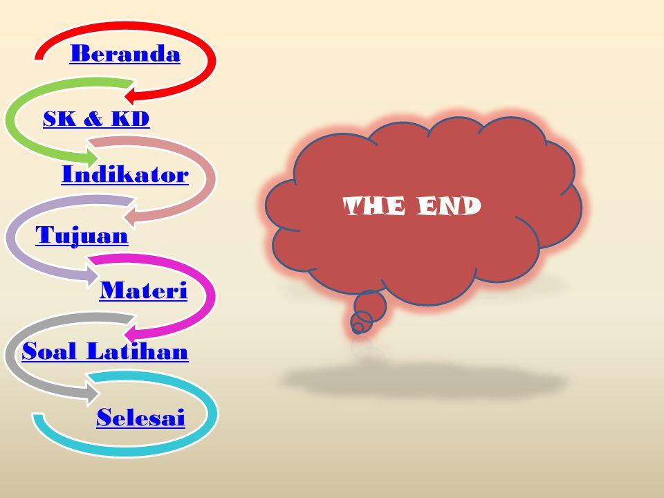Beranda SK & KD Indikator Tujuan Materi Soal Latihan Selesai THE END