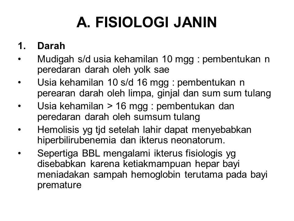 A. FISIOLOGI JANIN Darah
