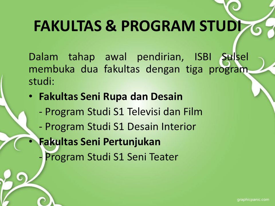 FAKULTAS & PROGRAM STUDI
