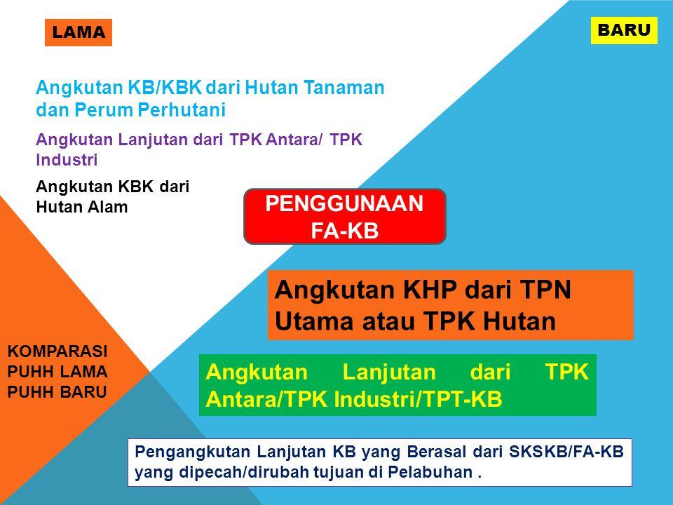 Angkutan KHP dari TPN Utama atau TPK Hutan
