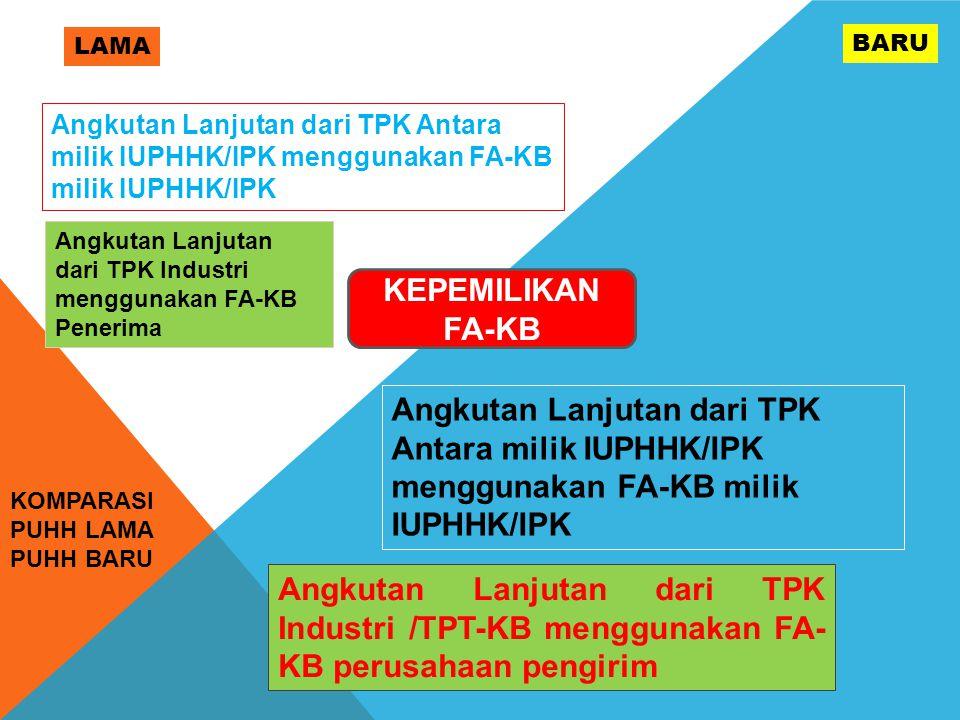 LAMA BARU. Angkutan Lanjutan dari TPK Antara milik IUPHHK/IPK menggunakan FA-KB milik IUPHHK/IPK.