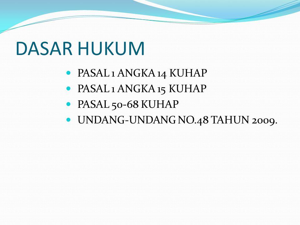 DASAR HUKUM PASAL 1 ANGKA 14 KUHAP PASAL 1 ANGKA 15 KUHAP