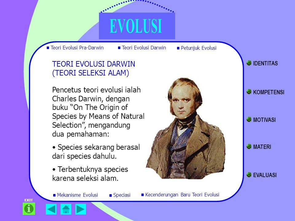 TEORI EVOLUSI DARWIN (TEORI SELEKSI ALAM) IDENTITAS