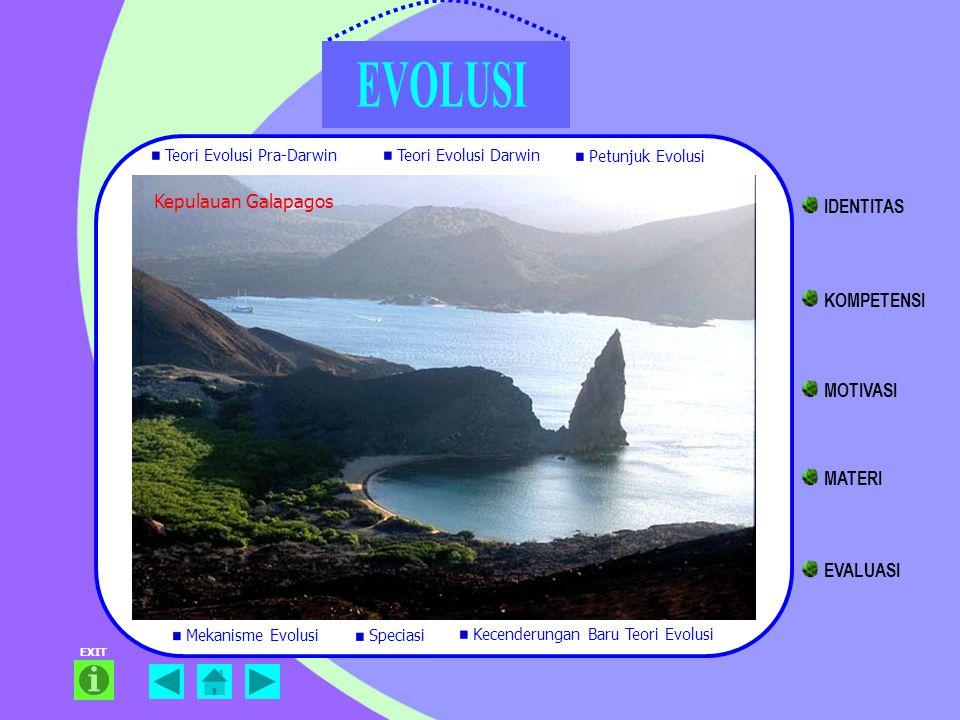 IDENTITAS KOMPETENSI MOTIVASI MATERI EVALUASI Kepulauan Galapagos