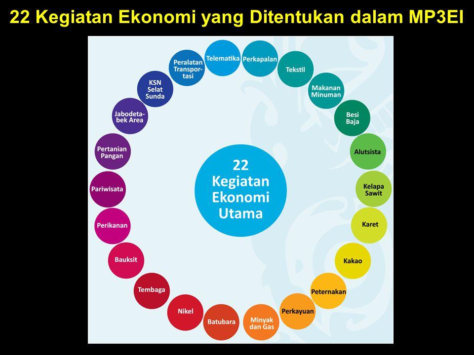 22 Kegiatan Ekonomi yang Ditentukan dalam MP3EI