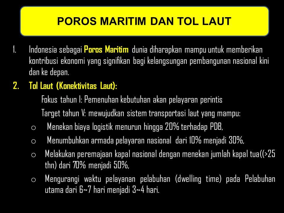 POROS MARITIM DAN TOL LAUT