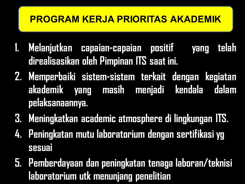PROGRAM KERJA PRIORITAS AKADEMIK