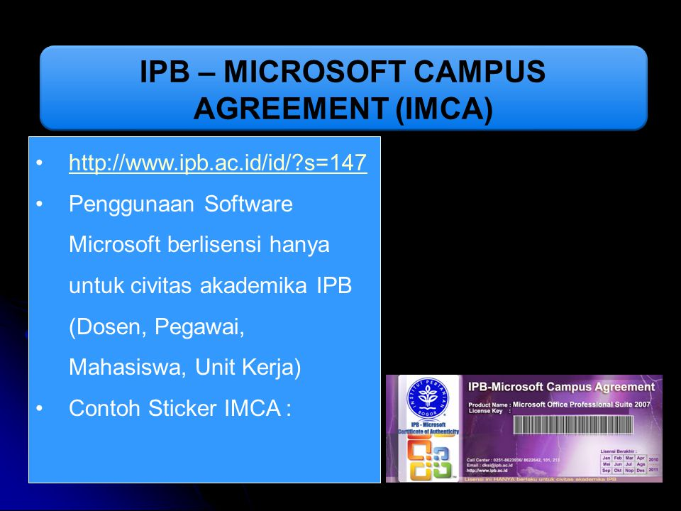 IPB – MICROSOFT CAMPUS AGREEMENT (IMCA)