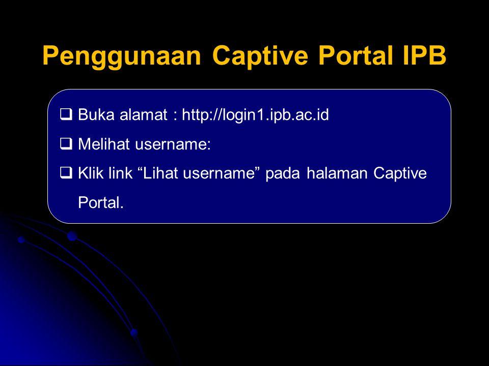 Penggunaan Captive Portal IPB