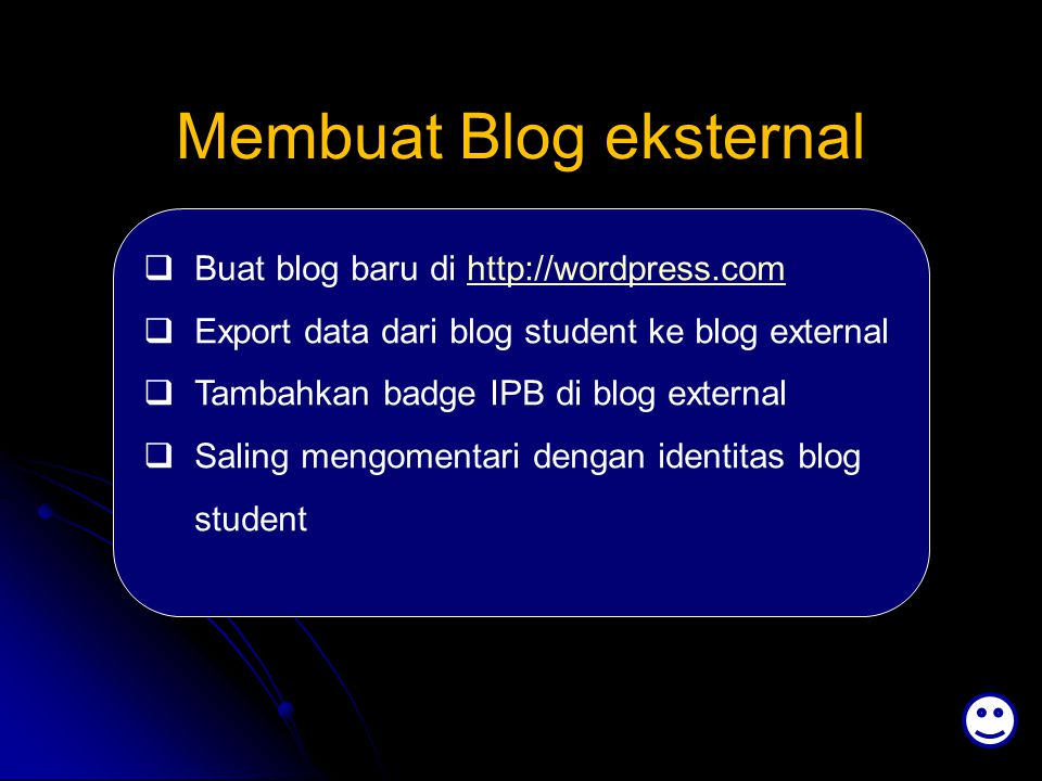 Membuat Blog eksternal