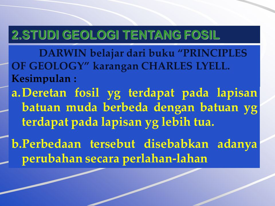 STUDI GEOLOGI TENTANG FOSIL