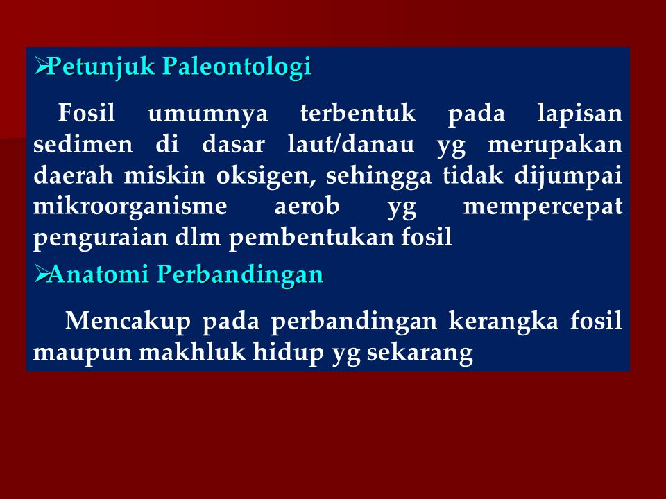 Petunjuk Paleontologi