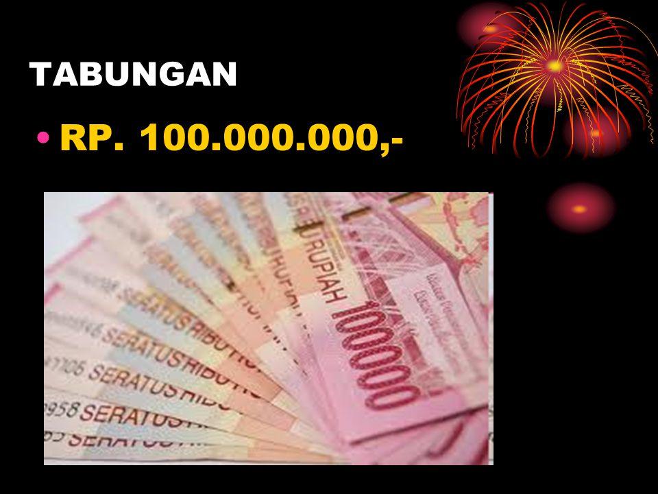 TABUNGAN RP. 100.000.000,-