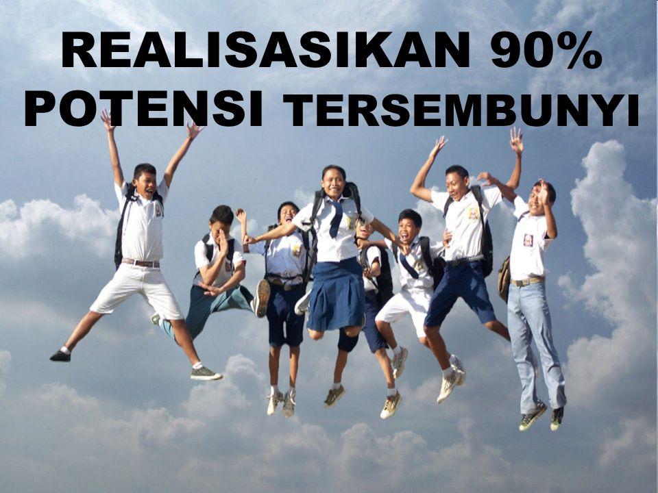 REALISASIKAN 90% POTENSI TERSEMBUNYI