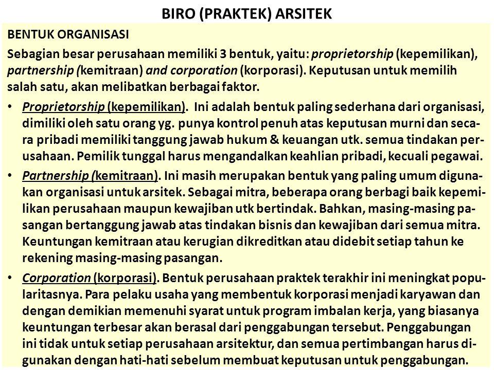 BIRO (PRAKTEK) ARSITEK