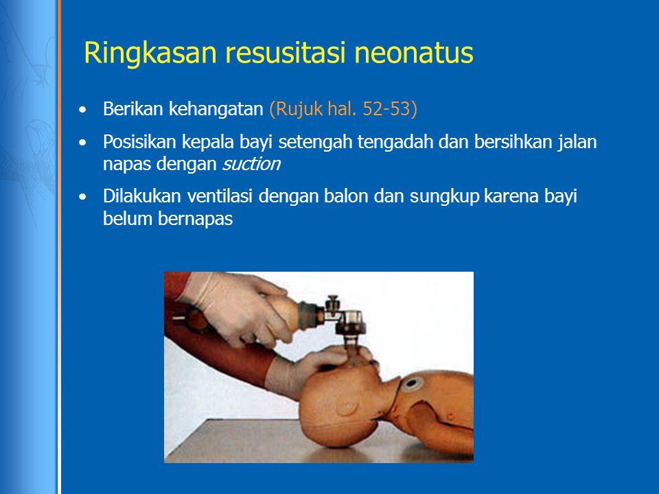 Ringkasan resusitasi neonatus