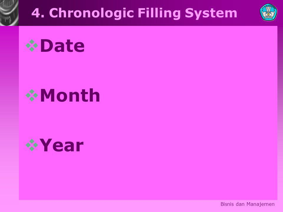 4. Chronologic Filling System