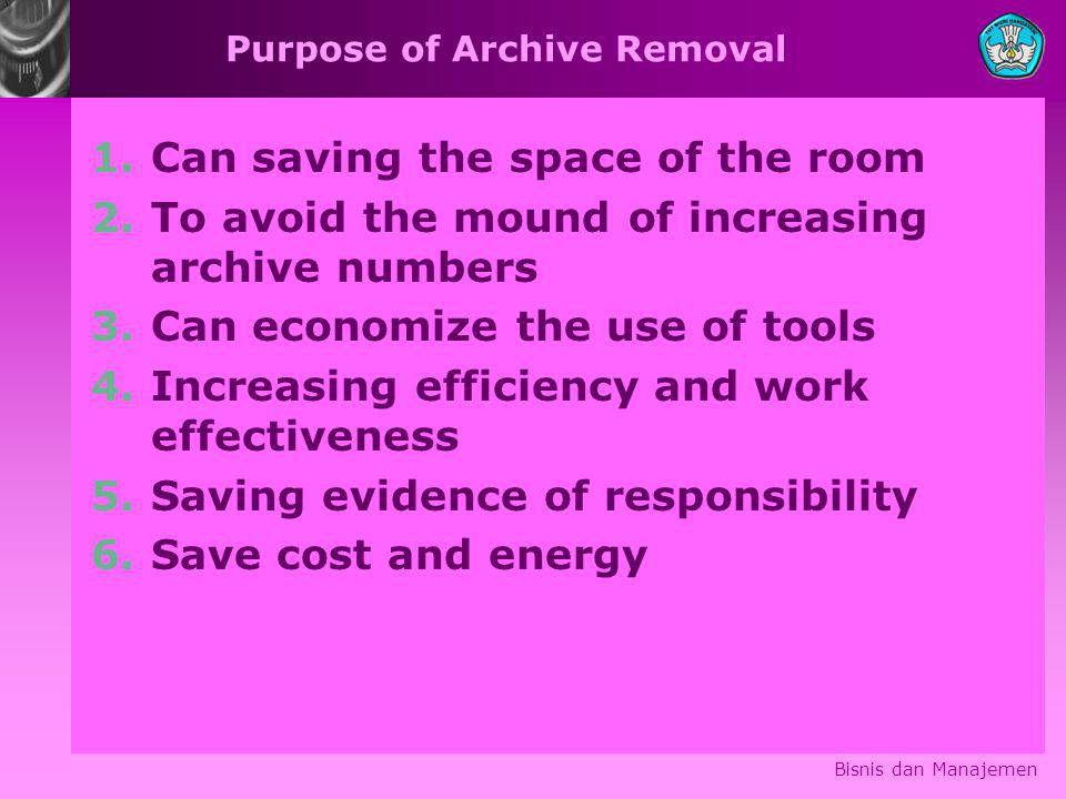 Purpose of Archive Removal