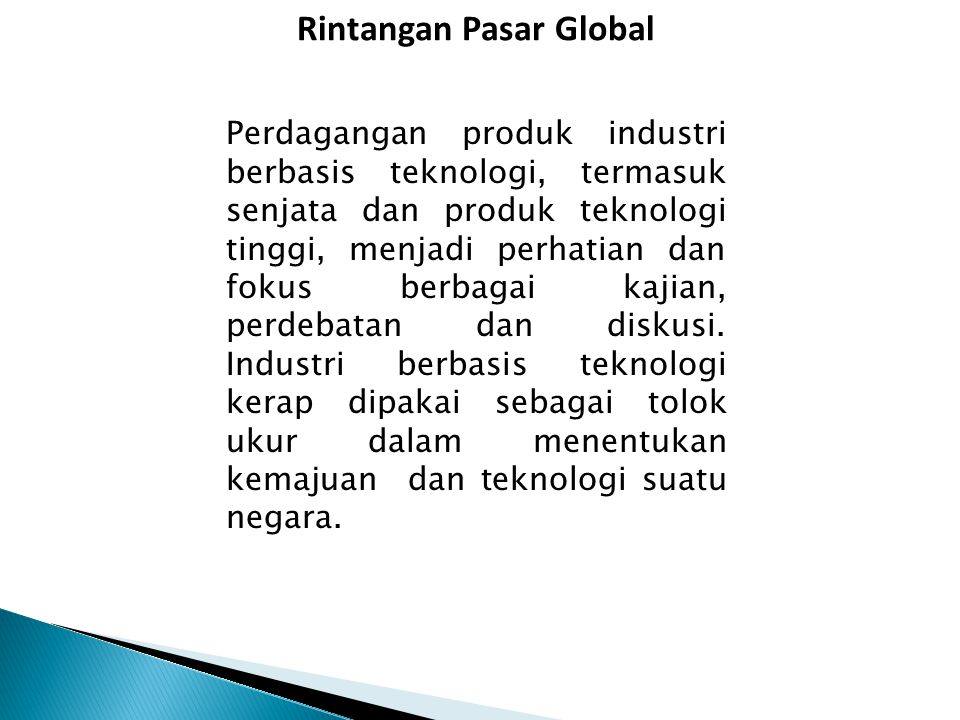Rintangan Pasar Global