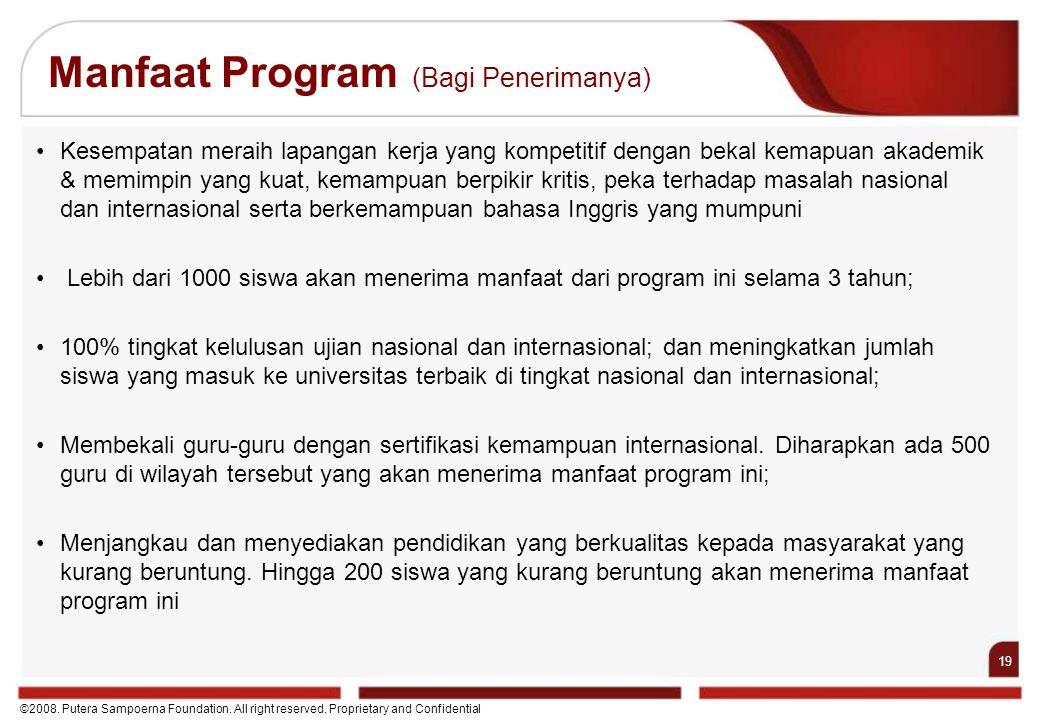 Manfaat Program (Bagi Penerimanya)