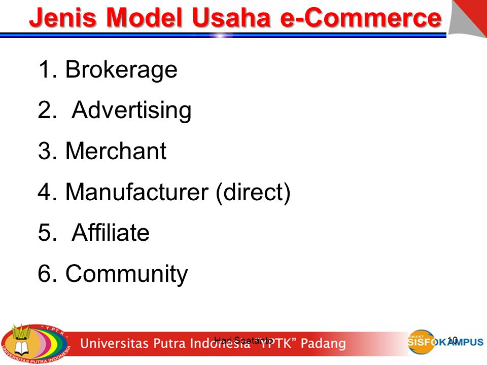 Jenis Model Usaha e-Commerce