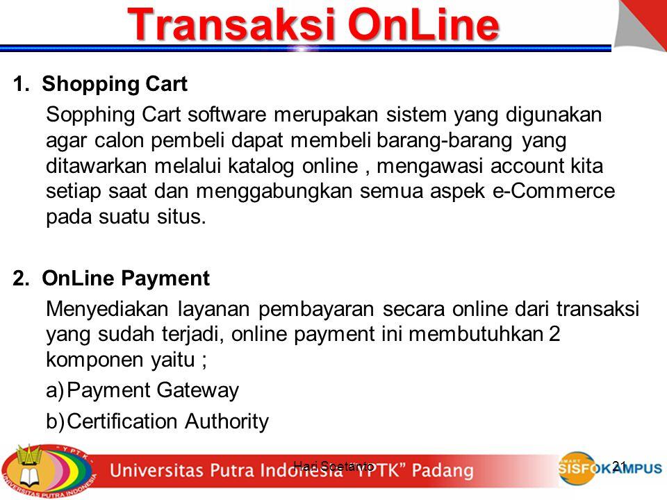 Transaksi OnLine Shopping Cart