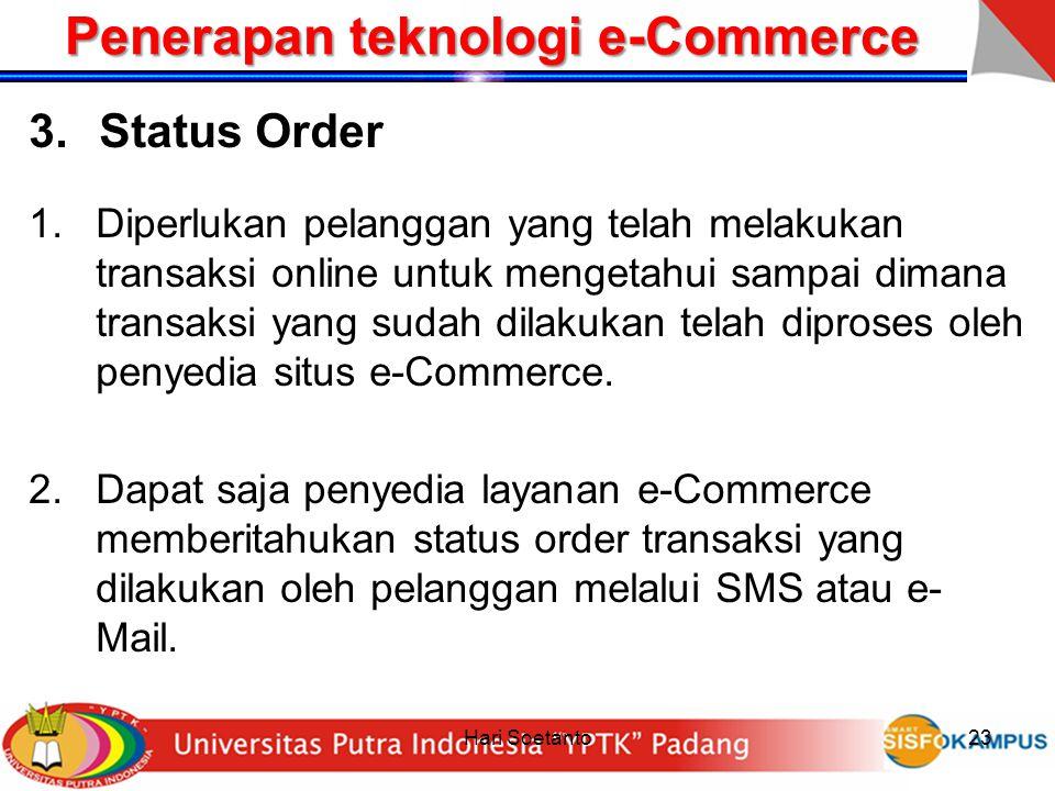 Penerapan teknologi e-Commerce