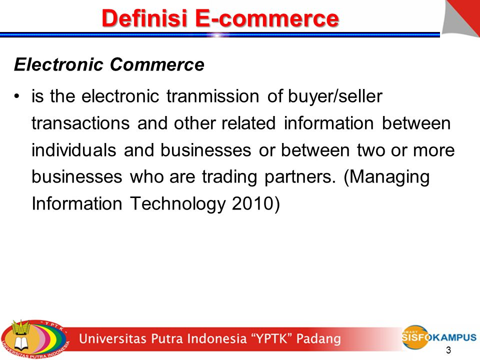 Definisi E-commerce Electronic Commerce