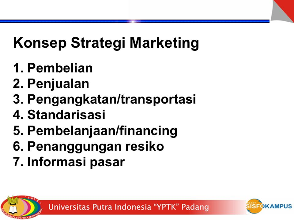 Konsep Strategi Marketing