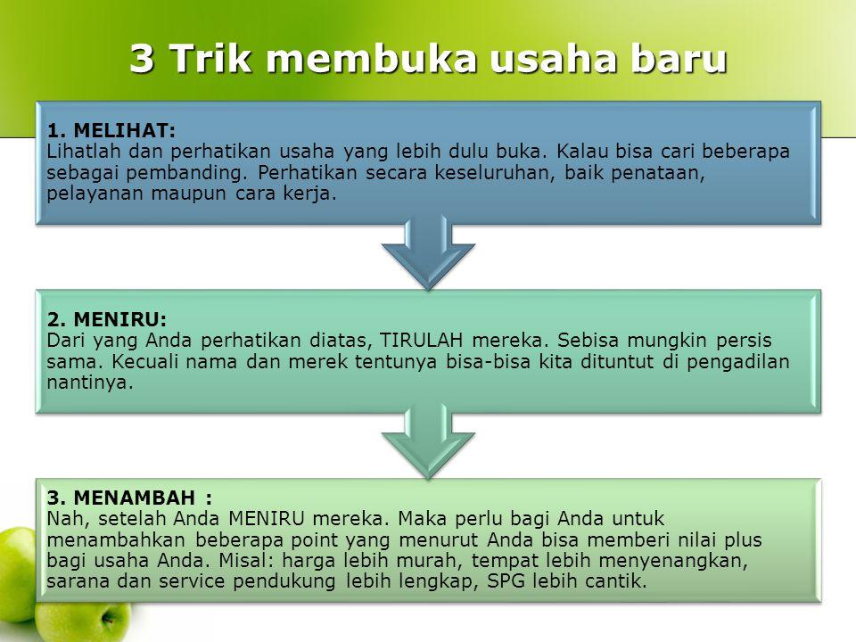 3 Trik membuka usaha baru
