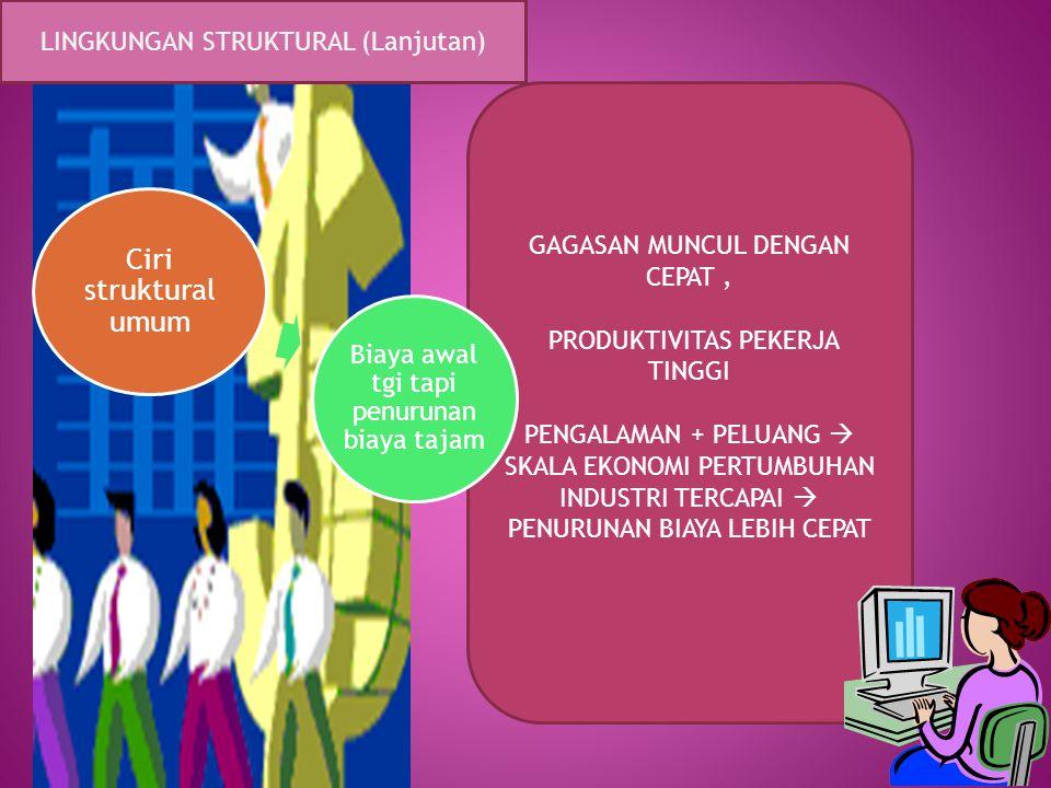 Ciri struktural umum LINGKUNGAN STRUKTURAL (Lanjutan)