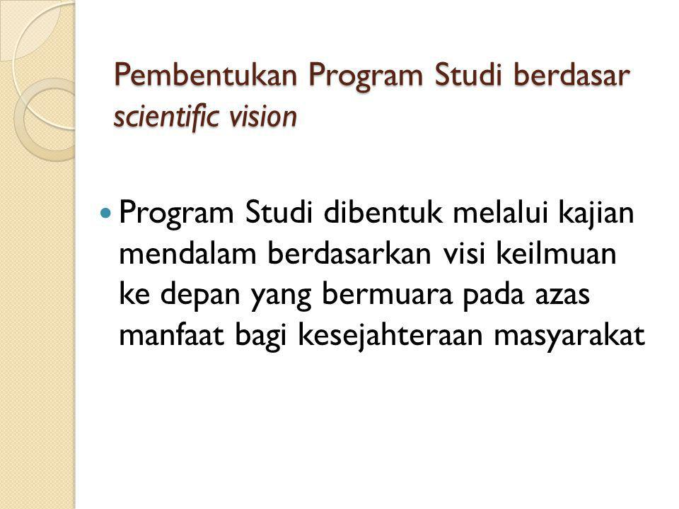 Pembentukan Program Studi berdasar scientific vision
