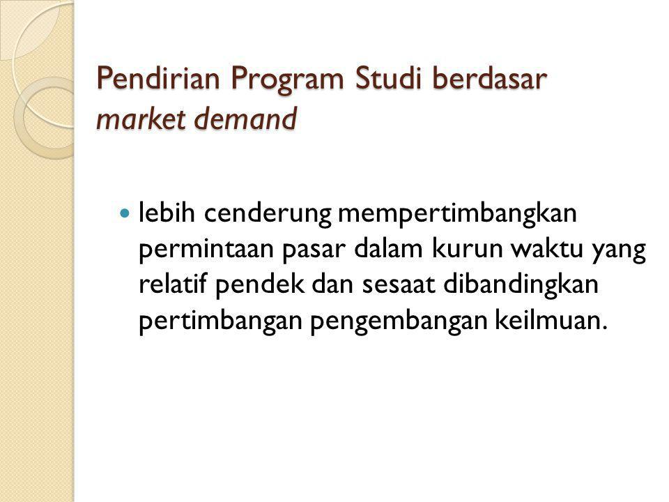 Pendirian Program Studi berdasar market demand