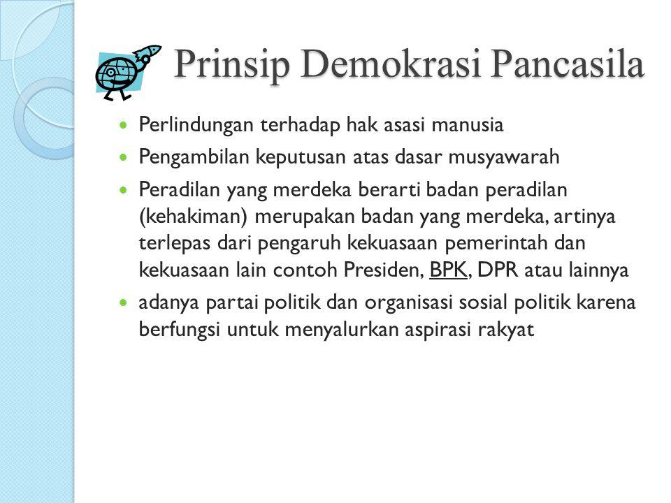 Prinsip Demokrasi Pancasila