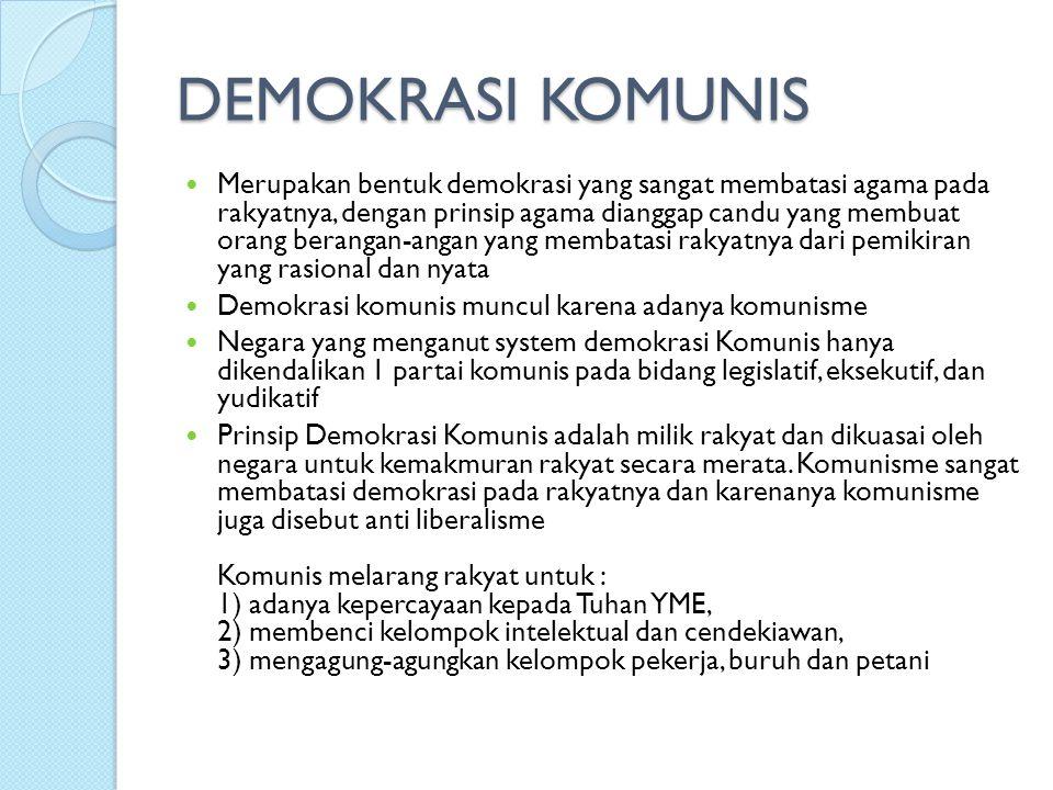 DEMOKRASI KOMUNIS
