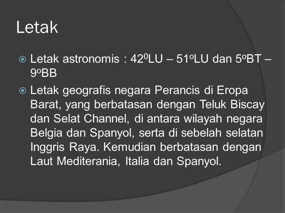 Letak Letak astronomis : 420LU – 51oLU dan 5oBT – 9oBB