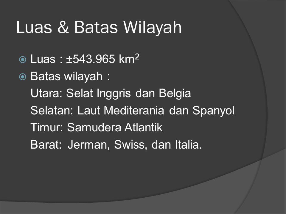 Luas & Batas Wilayah Luas : ±543.965 km2 Batas wilayah :