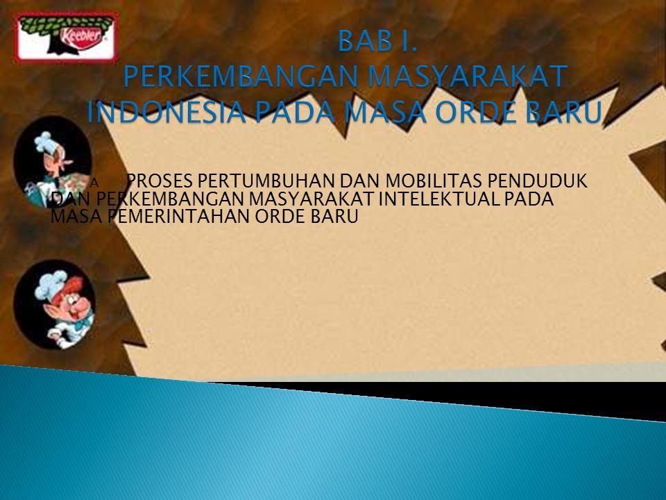 BAB I. PERKEMBANGAN MASYARAKAT INDONESIA PADA MASA ORDE BARU