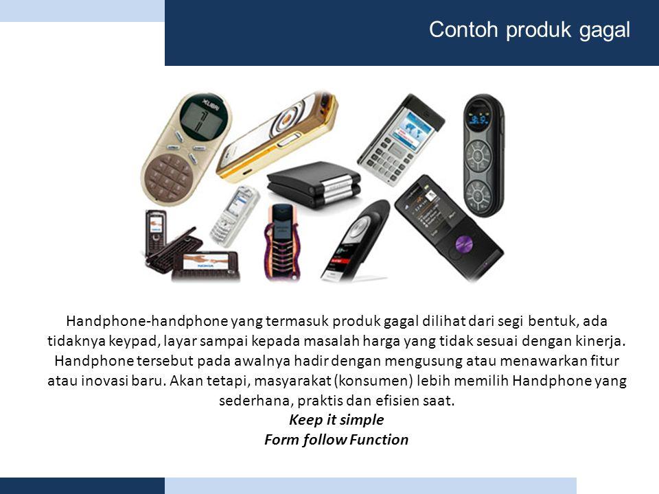 Contoh produk gagal