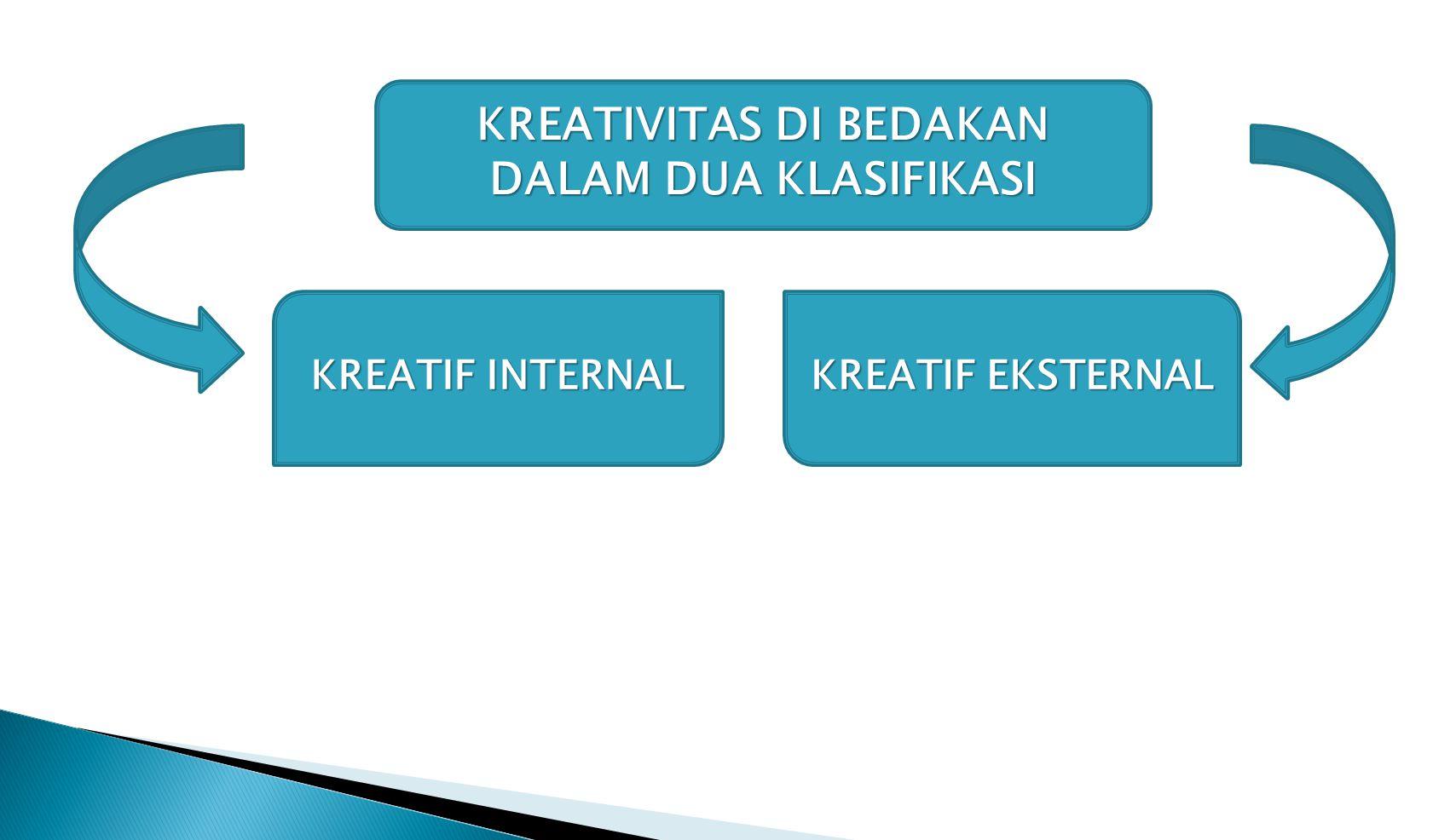 Kreativitas di bedakan dalam dua klasifikasi