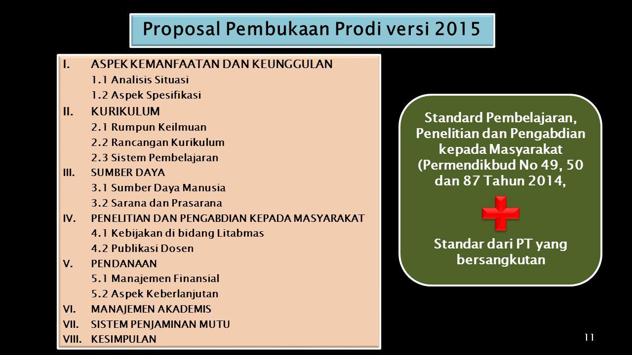 Proposal Pembukaan Prodi versi 2015