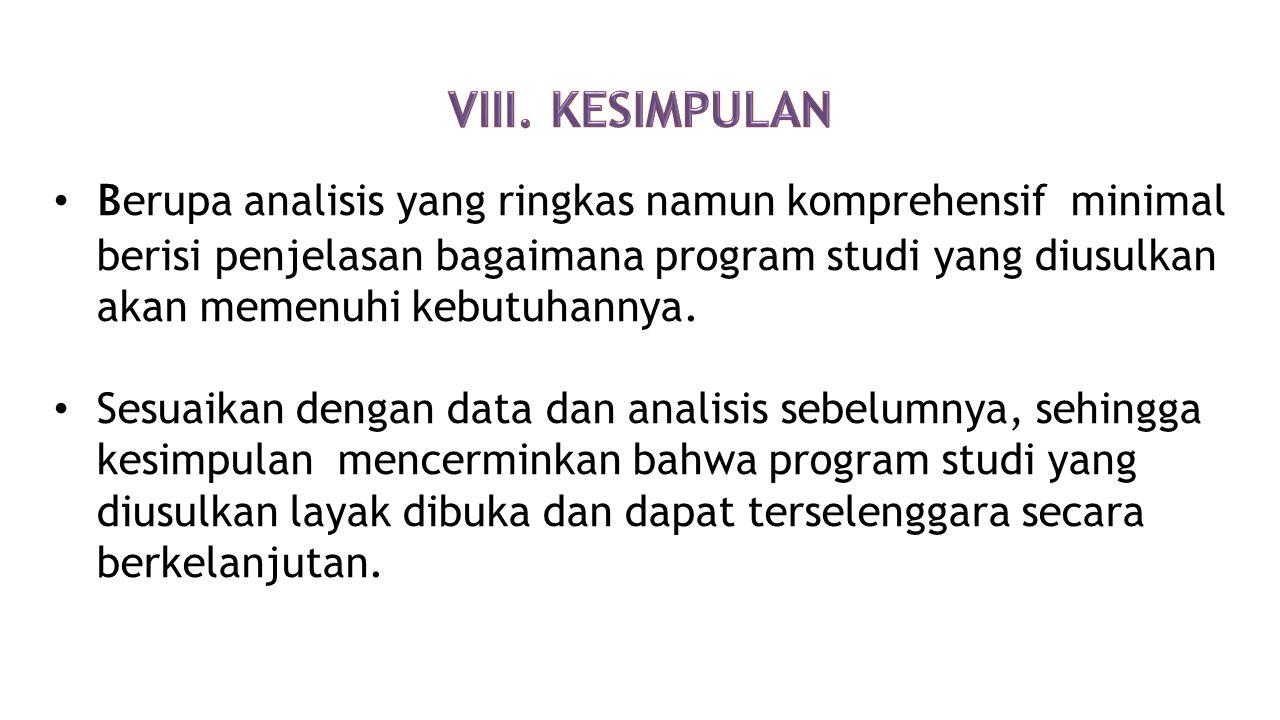 VIII. KESIMPULAN