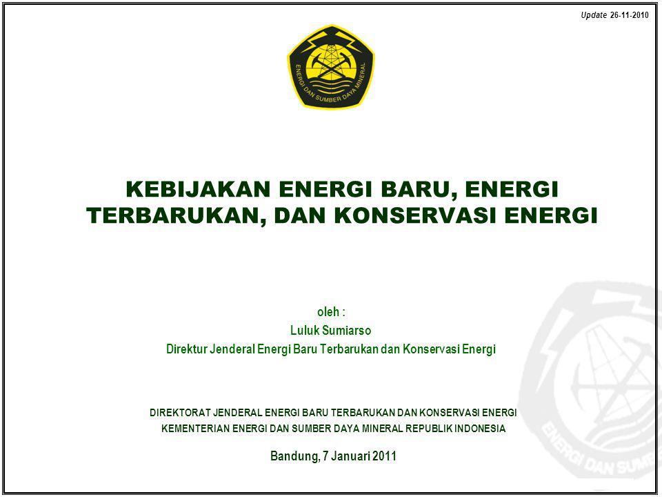 KEBIJAKAN ENERGI BARU, ENERGI TERBARUKAN, DAN KONSERVASI ENERGI